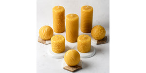 various pure beeswax candles