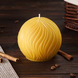 passion round pure beeswax candle