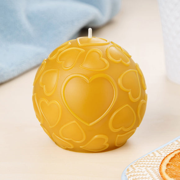 love pure beeswax round candle