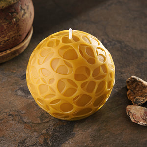 pebbles pure beeswax round candle