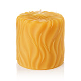 "Incandescence 3""x3"" Pure Beeswax Pillar Candle"