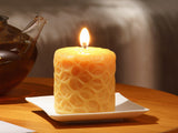 "clean burning passion 3"" inch pure beeswax pillar candle"