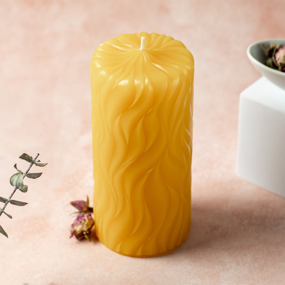 incandescence 3x6 pure beeswax pillar candle