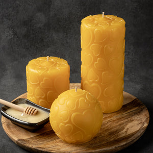 love pure beeswax 3 candle set