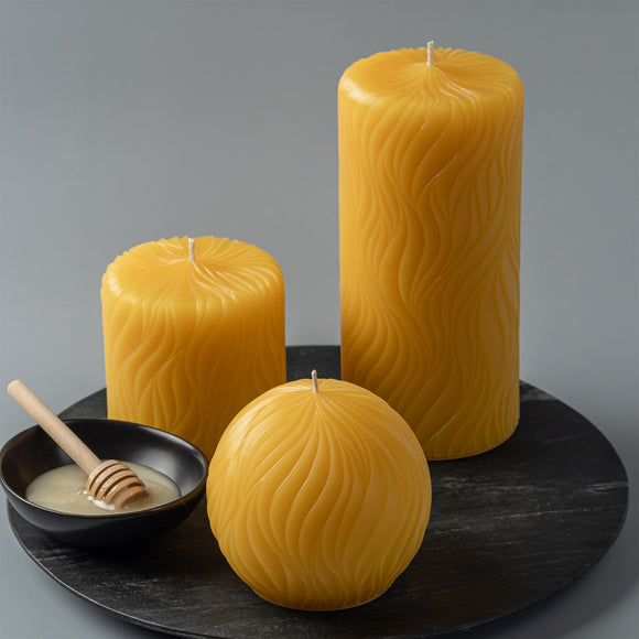 passion pure beeswax 3 candle set