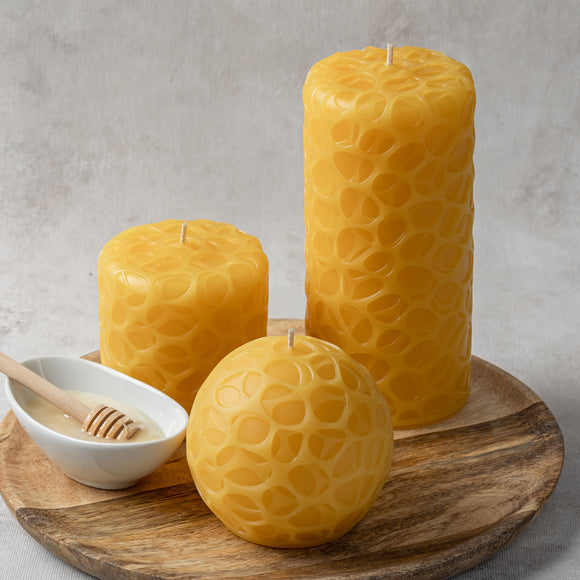 pebbles pure beeswax 3 candle set