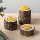 three pure beeswax tealights