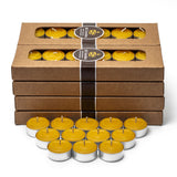 96 pure beeswax tealights in aluminium cups
