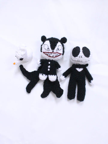aurora and jack nightmare before christmas crochet toys