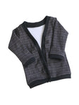Grey Plaid print cardigan Newborn to 2t by AnkleBitersKids lay flat front