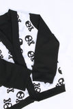 Skull print cardigan in size 8 by AnkleBitersKids side view