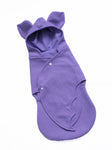 lilac bat baby swaddle wrap