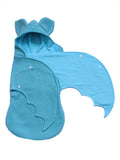 Anklebiterskids.com handmade bat baby Mint swaddle blanket wing open