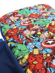 Anklebiterskids avengers bed roll in side fabric close up