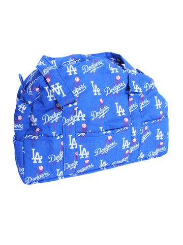 LA Dodgers blue logo print hand bag travel baby bag