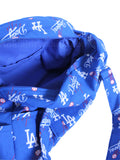 LA Dodgers blue logo print hand bag inside zipper