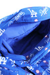 LA Dodgers blue logo print hand bag inside view