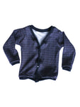 Grey Plaid print cardigan Newborn to 2t by AnkleBitersKids