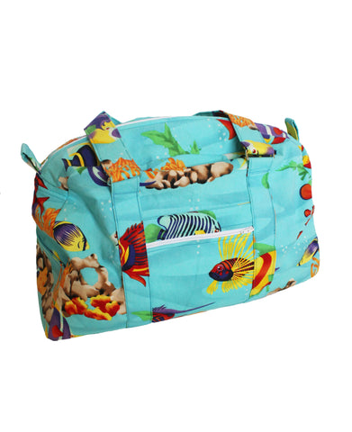 The big blue Duffle style Diaper baby bag
