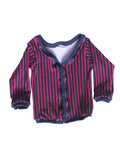 Red Stripe print cardigan Newborn to 2t by AnkleBitersKids