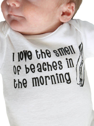 """I love the smell of beaches"" Newborn Bodysuit"