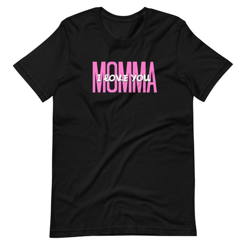black momma I love you t shirt mothers day