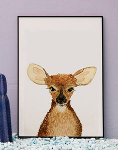 Watercolor Forest Animal Portraits