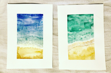 Load image into Gallery viewer, Abstract Watercolor Beach Scenes - Set of 2