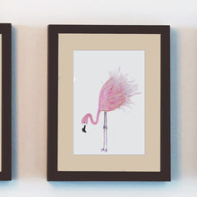 Load image into Gallery viewer, flamingo wall art watercolor prints hand painted
