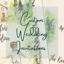 Load image into Gallery viewer, Completely Custom Wedding Invitations