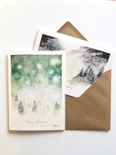 Load image into Gallery viewer, Snowy Forest Scenes - Christmas Cards - Set of 10