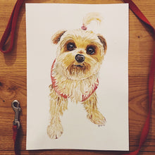 Load image into Gallery viewer, Custom Watercolour Dog Portrait
