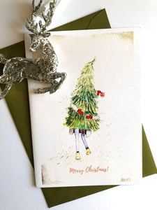 She Does... Christmas - Christmas Cards - Set of 6