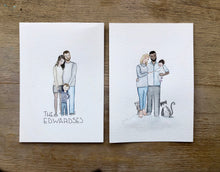 Load image into Gallery viewer, Personalised Watercolour Family - Original Painting