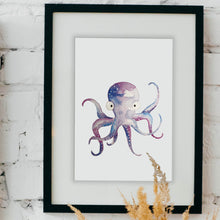 Load image into Gallery viewer, Watercolor Octopus & Lobster