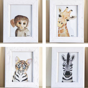 Safari Animal Portraits Set of 4