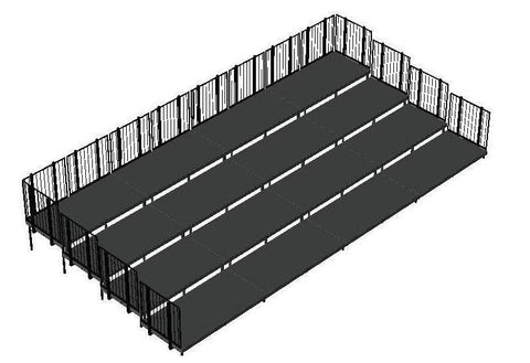 Choral Riser made of 2'X8' & 2'X4' Deck Modules