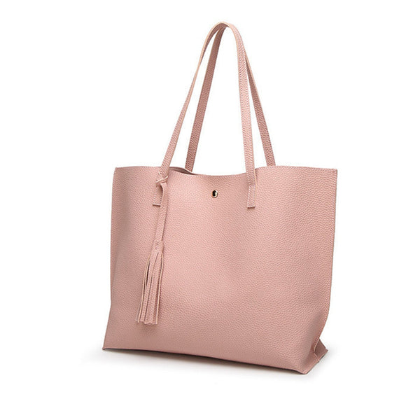 Female Shoulder Bags Solid Color Practi