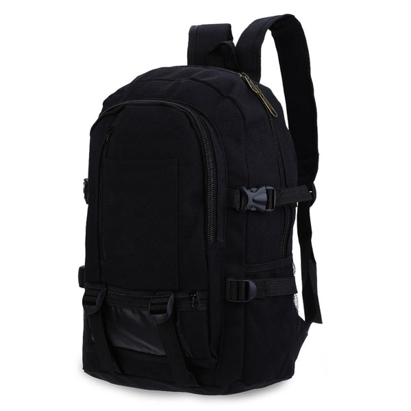 Canvas Zipper Ladder Lock Outdoor Activity Portable Backpack for Men