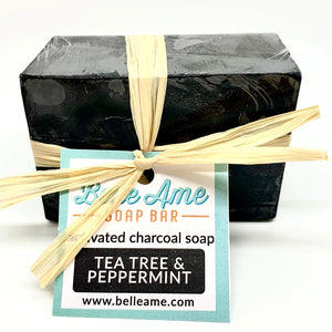 Activated Charcoal Soap Tea Tree and Peppermint