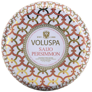 Voluspa Saijo Persimmon | 2 Wick Maison Tin Candle