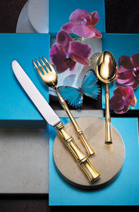 Ricci Gold Bamboo Flatewre 5pc. placesetting