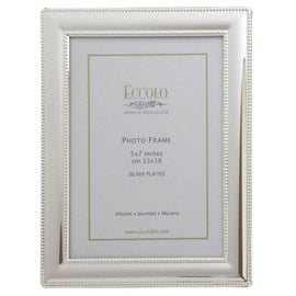 Eccolo Double Edge Silverplate Frame