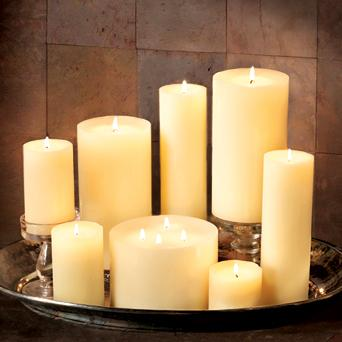 Colonial Candle Smooth Pillar 6 inch