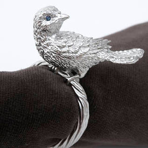 L\'Objet Platinum Bird Napkin Ring Set of Four