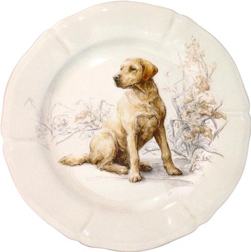 Gien Yellow Lab Salad Plate