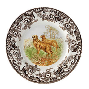 Spode Golden retriever salad