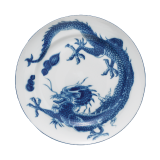 Mottahedah Blue Dragon Bread Plate