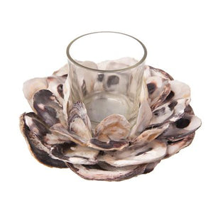 Oyster Shell Votive candle Holder
