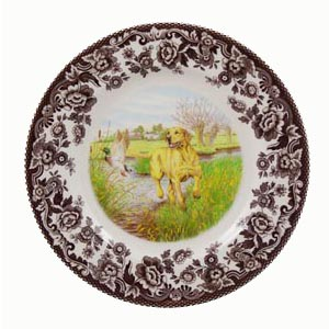 Spode Yellow Lab Dessert